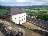Výhľad z hradu v Starej Ľubovni, Slovensko
