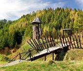 Starodávne drevené opevnenie na Havránku