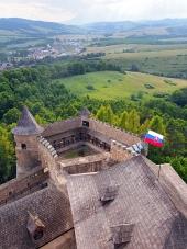 Výhľad z hradu Stará Ľubovňa, Slovensko
