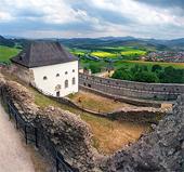 Zamračený výhľad z hradu Stará Ľubovňa