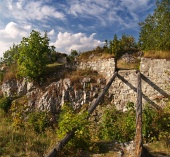 Zakonzervované ruiny Liptovského hradu