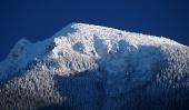 Zasnežený vrchol Veľkého Choča