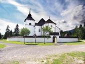 Gotický kostol v skanzene Pribylina