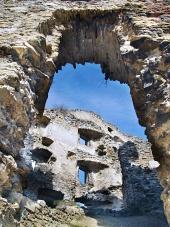 Zrúcanina interiéru Likavského hradu