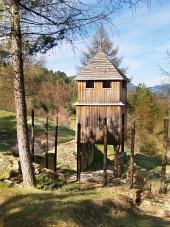 Veža dreveného opevnenia na Havránku