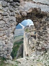 Pohľad z zrúcanina hradu Lietava