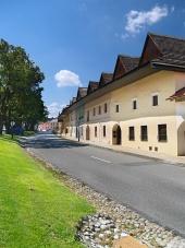 Cesta a meštianske domy v obci Spišská Sobota