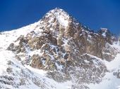 Zimný pohľad na Lomnický štít