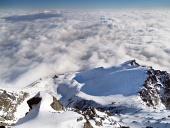 Pohľad z Lomnického štítu v zime