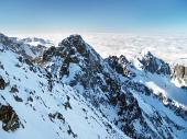 Kolový štít vo Vysokých Tatrách počas zimy