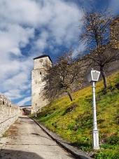 Hodinová veža na hrade Trenčín