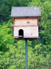 Drevená búdka pre vtáky