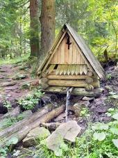 Drevený zrub v prírode