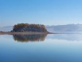 Slanický ostrov umenia počas skorého rána