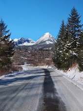 Cesta do Vysokých Tatier v zime