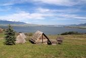 Keltské domy na kopci Havránok na Slovensku