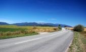 Cesta v smere na Liptov cez Roháče