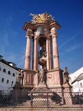 Historický morový stĺp Panny Márie a Najsvätejšej Trojice v Banskej Štiavnici