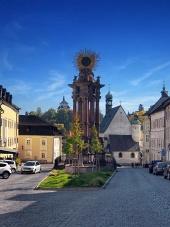 Ulica v meste Banská Štiavnica