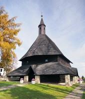Drevený kostol v meste Tvrdošín na Slovensku