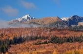 Kriváň vo Vysokých Tatrách na jeseň