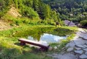 Starodávny banský vodovod v obci Špania Dolina