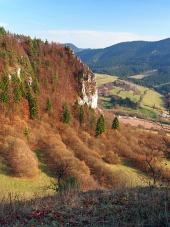 Výhľad z Tupej Skaly na Slovensku