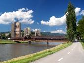 Cesta k sídlisku Bysterec a kolonádový most