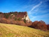 Jeseň pri lokalite Ostrej Skalky, Vyšný Kubín, Slovensko