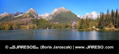 Panoráma pri lokalite Štrbského Plesa, Vysoké Tatry