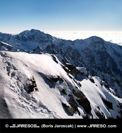 Zasnežené vrcholky horských štítov