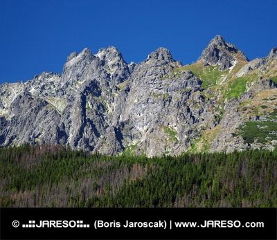 Vrcholy Vysokých Tatier počas leta