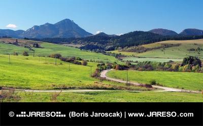 Zelené lúky pri Bobrovníku a Veľký Choč