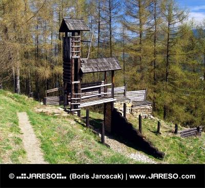 Drevené opevnenie na Havránku, Slovensko