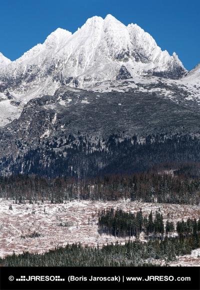 Vrcholy Vysokých Tatier v zime
