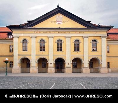 Historická Reduta, terajšia knižnica v meste Kežmarok