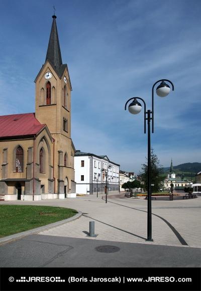 Evanjelický kostol na námestí v Dolnom Kubíne