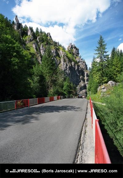 Most na ceste smerujúcej do Vrátnej doliny