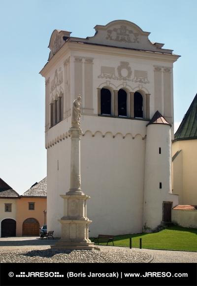 Zvonica a Mariánsky stĺp v Spišskej Sobote