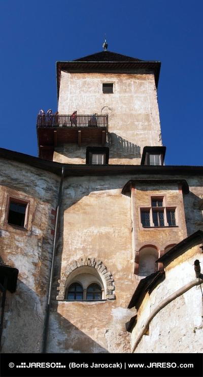 Veža a vyhliadkový balkón na Oravskom hrade