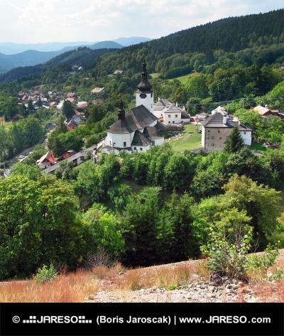Špania Dolina s kostolom, Slovensko
