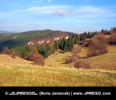 Jesenné polia na Tupá Skala na Slovensku