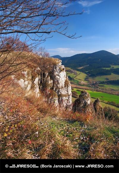 Jesenné výhľad z Tupej Skaly na Orave