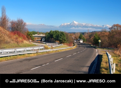 Cesta k vrcholu Kriváň vo Vysokých Tatrách na Slovensku