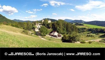 Hrad Sklabiňa v Turčianskom kraji na Slovensku