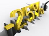Koncept 25 percentnej zľavy