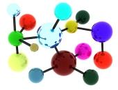 Abstraktná farebná molekula