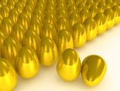 Koncept mnohých zlatých vajec