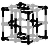 Čierna a biela kubická štruktúra