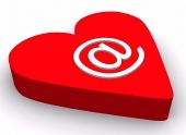 Symbol emailu na srdiečku